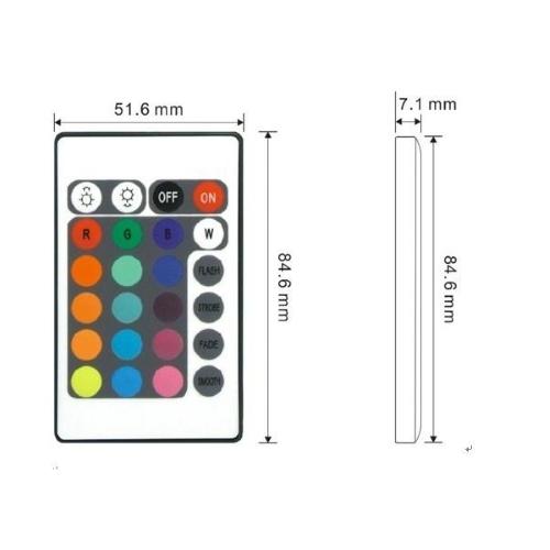 Контроллер RGB-IR 28key с ИК-пультом_3