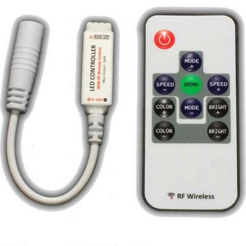 Контроллер мини RGB 10key с радио пультом