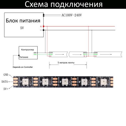 SMD5050-300-N-12В 60led/m (RGB)_3