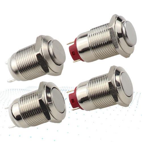 Кнопка 12мм (металл, без подсветки, без фиксации)_3