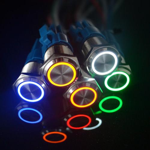 Кнопка 16мм (металл, с подсветкой, без фиксации)_1