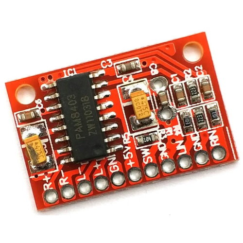 Усилитель звука 2х3Вт PAM8403 красный